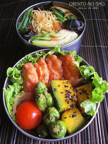 イカ薩摩と青梗菜の塩焼きそば弁当02