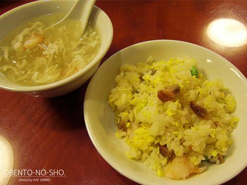 五目炒飯&蟹肉入りフカヒレスープ@四五六菜館