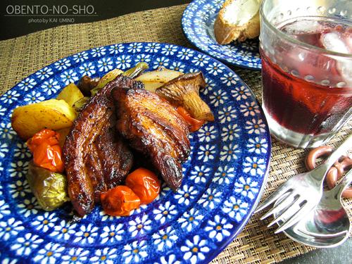 スペアリブのバルサミコ焼きのおウチご飯01