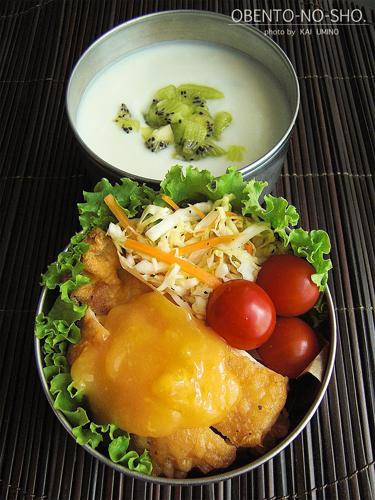 揚げ鶏のレモン&ライムソース弁当02