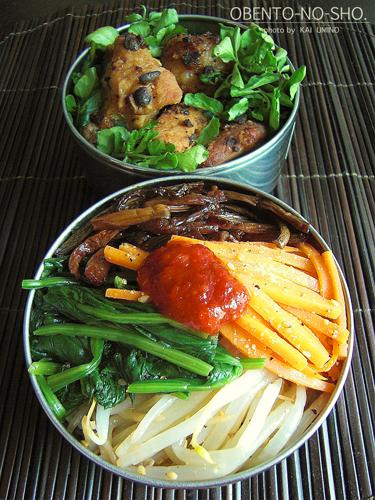 骨付き豚バラ肉の豆豉蒸し弁当04