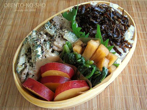 ゴーヤと牛肉のマヨ炒め弁当01