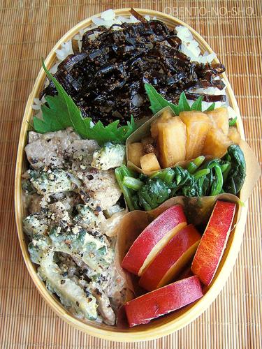 ゴーヤと牛肉のマヨ炒め弁当02