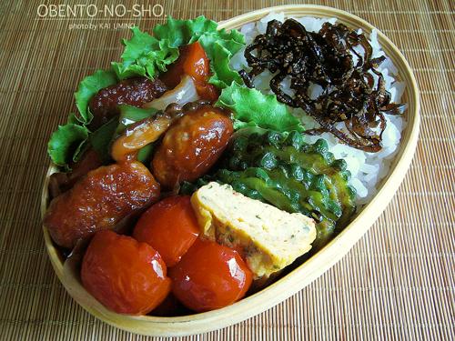 焼き肉団子の黒酢あんかけ弁当01