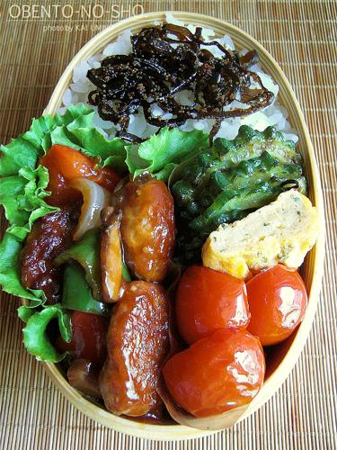 焼き肉団子の黒酢あんかけ弁当02