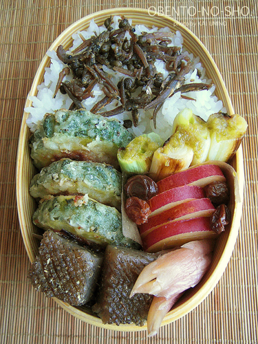 ゴーヤの肉詰め弁当02