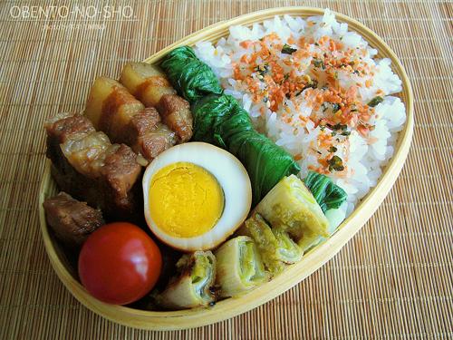 豚バラ肉の景虎煮弁当01