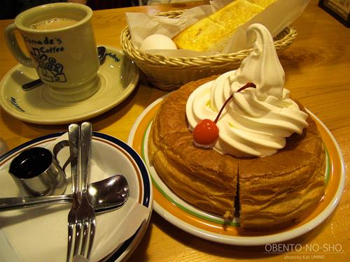 コメダ珈琲店のカフェオレセット&シロノワール