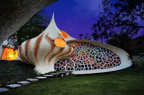 メキシコの貝ハウス