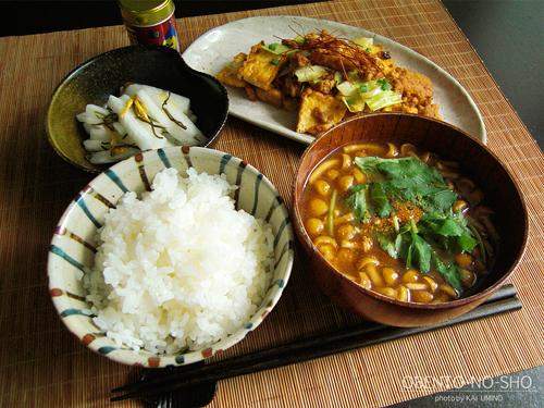 厚揚げとキャベツのピリ辛炒めのおウチご飯01