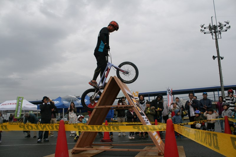 九州ストライダーGP バイクトライアル森カイセイくんデモ