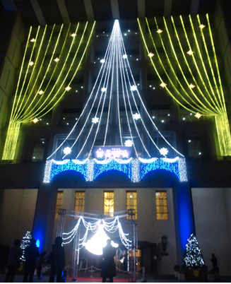 市役所 ライトアップ