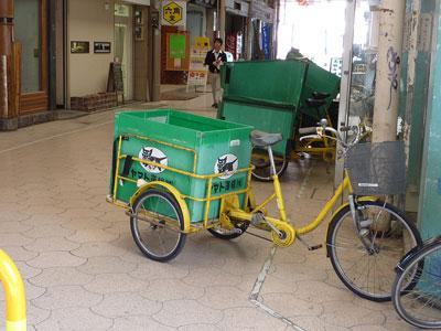 猫が乗る自転車