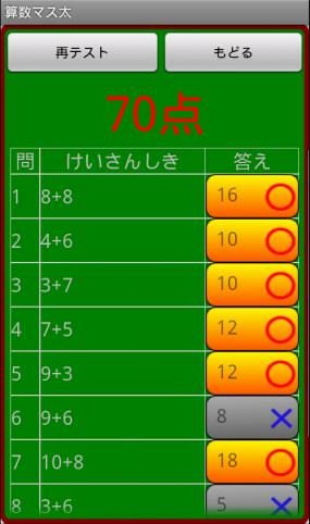 算数マス太_テスト採点