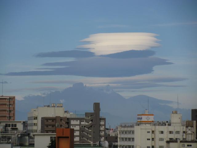富士山にラピュタ雲 つるし雲