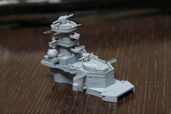タミヤ 巡洋戦艦グナイゼナウその7