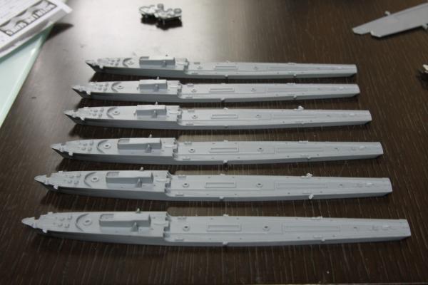 タミヤ 駆逐艦Z級その5