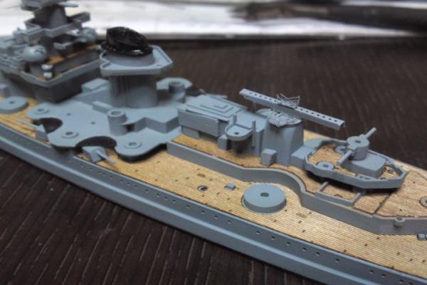 タミヤ 巡洋戦艦グナイゼナウその10
