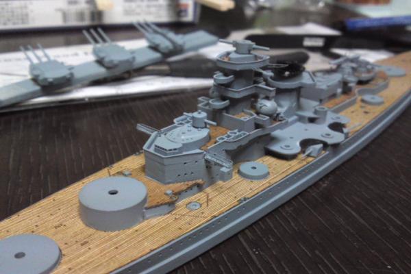 タミヤ 巡洋戦艦グナイゼナウその11