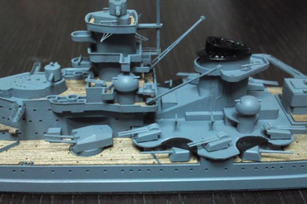 タミヤ 巡洋戦艦グナイゼナウその20