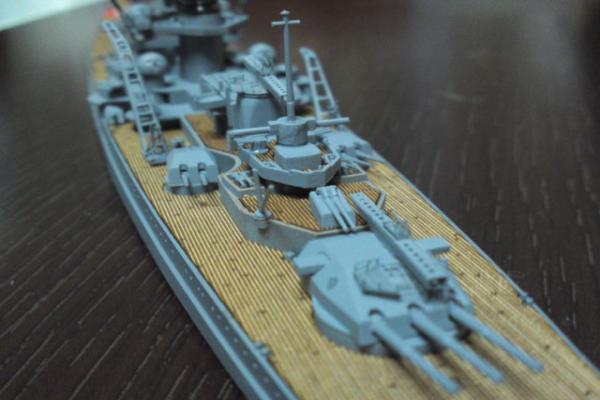 タミヤ 巡洋戦艦グナイゼナウその19