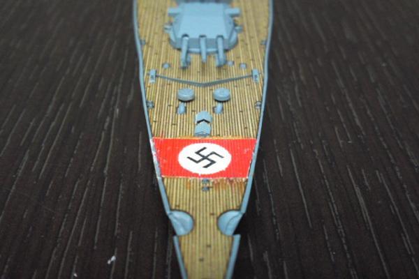 タミヤ 巡洋戦艦グナイゼナウその18