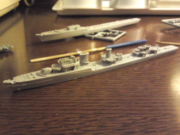 タミヤ 駆逐艦Z級その8