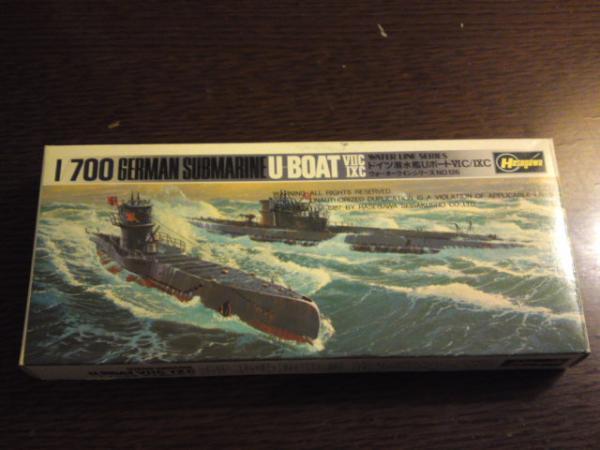 ハセガワ 潜水艦Uボート7C 9Cその1