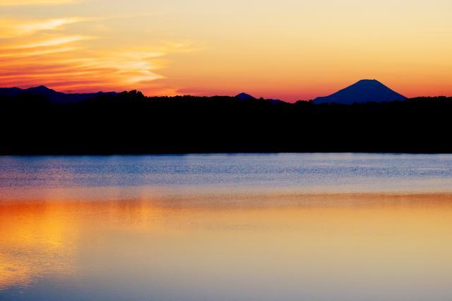夕景ー富士山