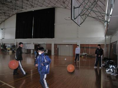 バスケ朝練習1