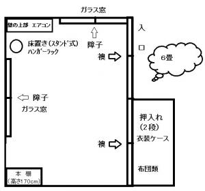 2013年3月_部屋の見取り図(6畳)