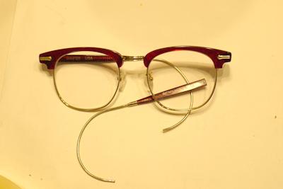 眼鏡フレーム 修理 SHURON 長岡市 めがね
