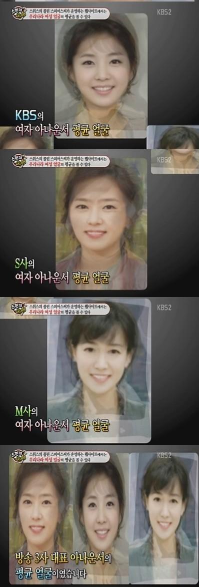 韓国放送三社女子アナ平均顔