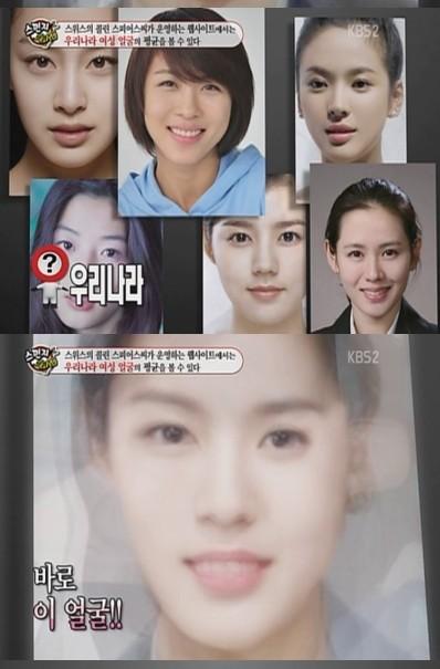 韓国代表女優の平均顔