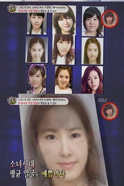少女時代の平均顔