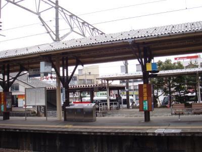 芦原温泉駅。何にもない駅だった。