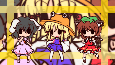 諏訪子、橙、てゐ2(PSP)