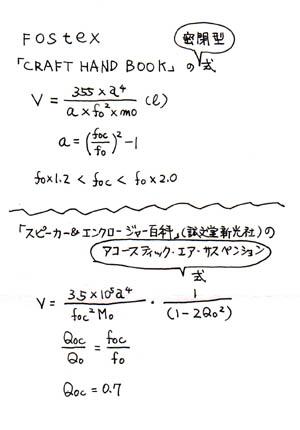 密閉型公式