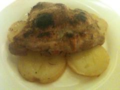 大山鶏のソティー ローズマリー風味