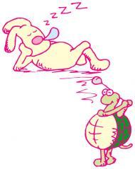 ウサギとカメのゴルフ