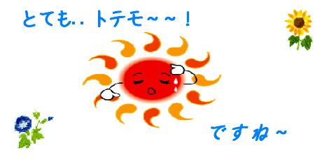 Blog 000 挨拶(とても暑いですね~)