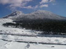 えびの高原から見た霧島連山