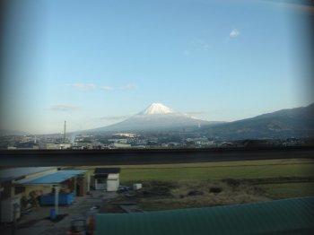 車窓富士山
