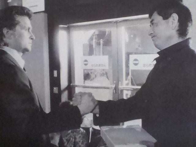 マイケル・ダクラス氏と高倉 健氏
