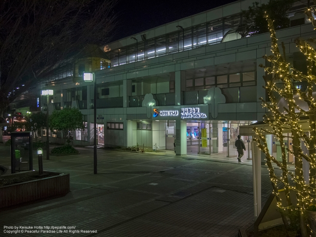 緑園都市駅の夜景