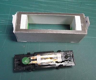 軽便鉄道停留所ペーパークラフトジオラマ作り方10
