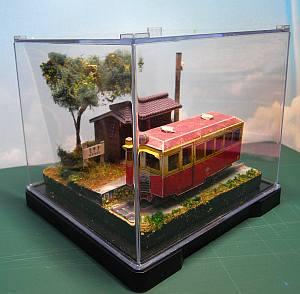 軽便鉄道停留所ペーパークラフトジオラマ短縮版05