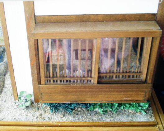 褒められた窓の桟