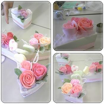 薔薇のショートケーキ