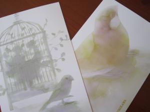 文鳥のポストカード♪